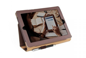 Smart Guy Stylus iPad case - Chocolate